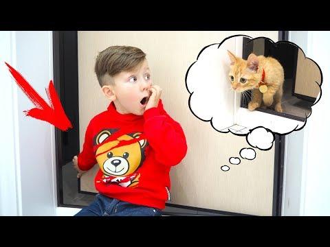 МОЙ МАЛЕНЬКИЙ КОТЕНОК Убежал и ПОТЕРЯЛСЯ / Теперь он Бездомный? Видео для детей Про Котят
