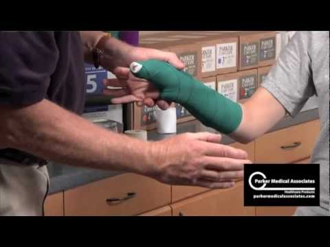Thumb Spica Splint Technique Youtube