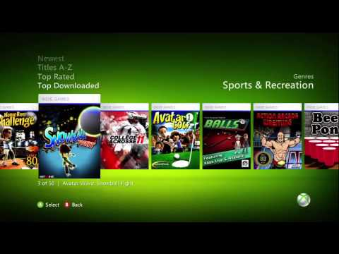 How to download lacrosse video games on Xbox LIVE.