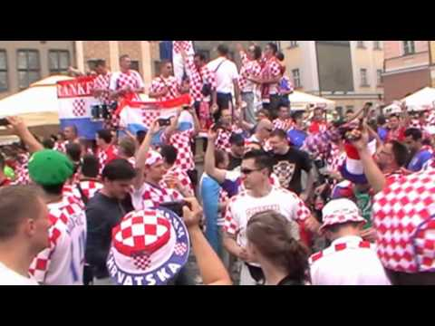 Euro 2012: Kibice Chorwacji W Poznaniu Stary Rynek (10.06.2012)