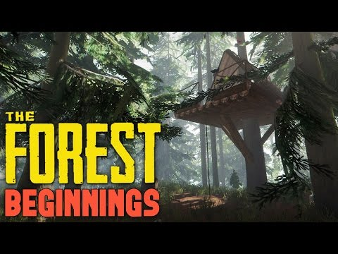 The Forest - WHEN CROCODILES ATTACK! -  Tree House Villiage! - Let's Play The Forest Co-op Part 1