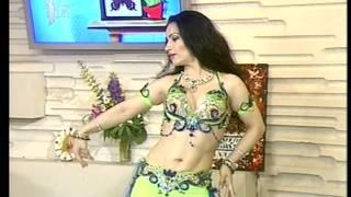 fusion arab-indian dance Amina Garayeva Performance on TV channel TDK July 2012 Nari-nari Dilbar