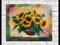 "Beads embroidery picture ""Podsolnuhi""/ Beaded painting/ Handmade gift by Pushka Natalia"