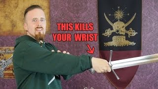 How NOT to thrust with a sword (aka broken wrist position)