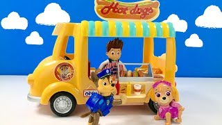 Learn Food Names with Paw Patrol Hot Dog Stand Pups Eat | Fizzy Fun Toys