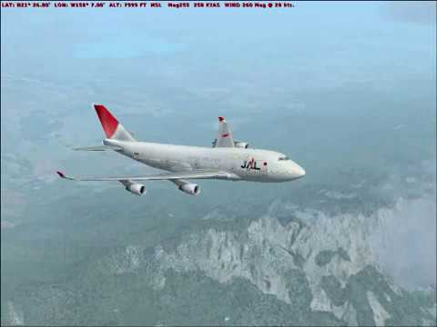 Flight Simulator X Honolulu to Tokyo by Japan Airlines