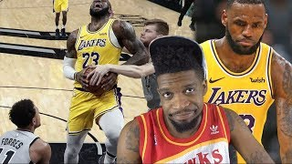 LEBRON'S SCORING TOO MUCH! LAKERS vs SPURS HIGHLIGHTS