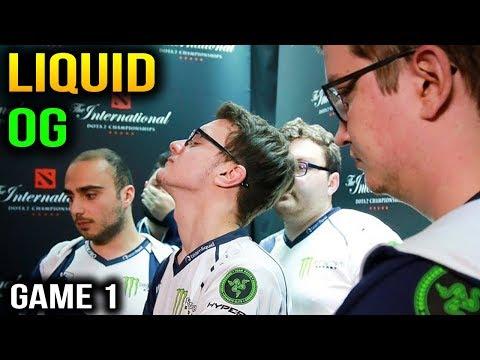LIQUID VS OG - LIQUID VS OPTIC - ESL One Katowice 2018 - Game 1