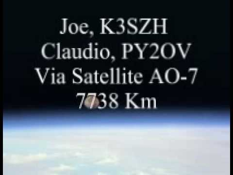 Satellite AO-7  7738 Km USA - Brazil.wmv