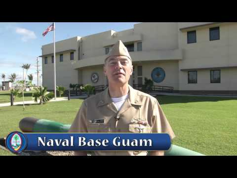 """Go Guam!"" - Greeting by U.S. Navy Rear Adm. Fritz Roegge"