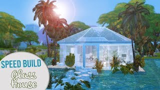 The Sims 4 Speed Build | GLASS HOUSE + CC Links