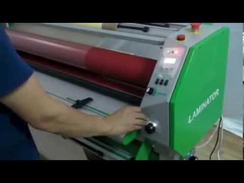 Односторонний тёплый ламинатор Mefu MF1700-C1 - Драки Видео