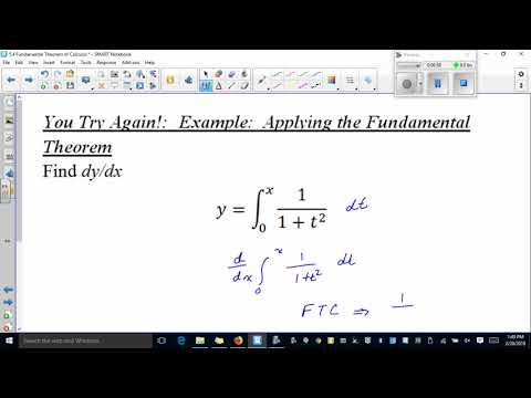 Calc 5 4 Part 1 Fundamental Theorem of Calculus