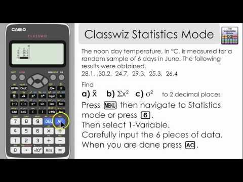 Casio Classwiz Statistics Mode - Find Mean. Variance & other information (991EX. 570EX)