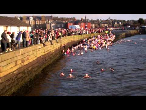 New Years Day Dook Broughty Ferry Harbour Dundee Scotland 2012