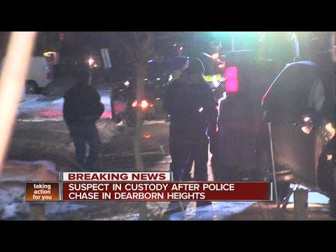 Suspect arrested after high-speed chase in Dearborn Heights