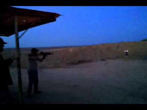 Sagia 223 muzzle flash at night.