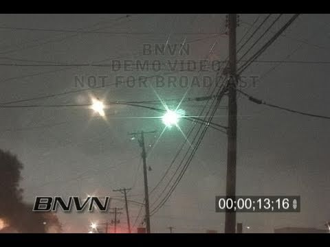 7/04/2003 video of power lines shorting out during a thunderstorm