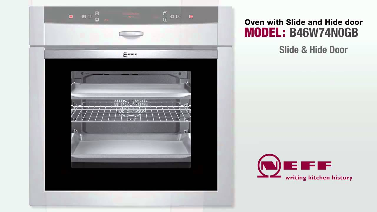 Oven Door Slides Underneath Neff B44s53n5gb Built In Electric Single Oven  Slide And
