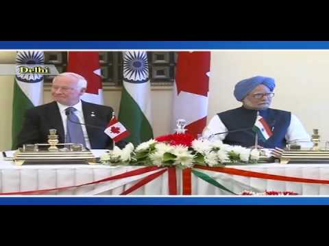 Edited-State Visit of Governor General of Canada to India: Signing of Agreements (Feb 24, 2014)