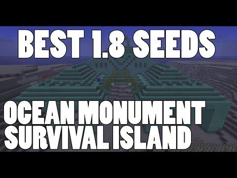 Best Minecraft 1.8 Seeds ✔ Epic Ocean Monument & Survival Island Spawn!