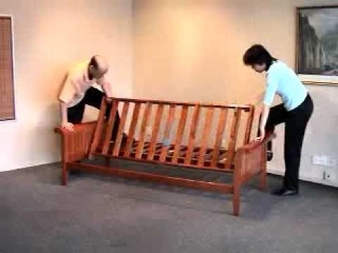 futon assembly how to assemble a futon frame bronze series by night and day youtube. Black Bedroom Furniture Sets. Home Design Ideas