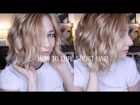HOW TO CURL SHORT HAIR   EASY & EFFORTLESSLY CUTE