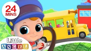 Wheels On the Bus - Baby Takes the Wheel |Nursery Rhymes by Little Angel