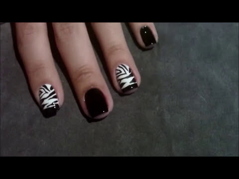 Unhas Decoradas Estampa de Zebrinha  Manual Bela e Simples Nail Art