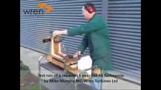 Wren Turbines 44 Turboprop test run - Jet Engine