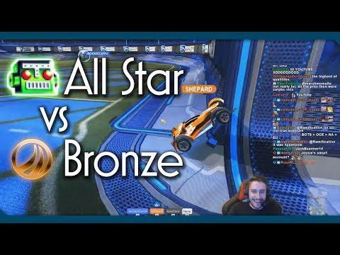 Bronze Player vs All-Star BOT   Hilarious Rocket League 1v1