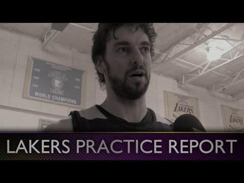 Lakers Practice: Pau Gasol Talks About First Visit To Kobe's House & Future With The Lakers
