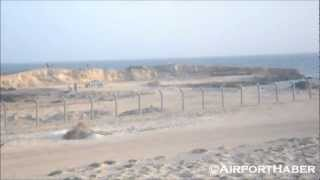 Turkish Airlines take off at Mogadishu