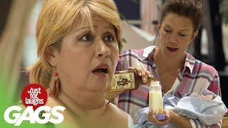 Drunk Baby Prank - Just For Laughs Gags