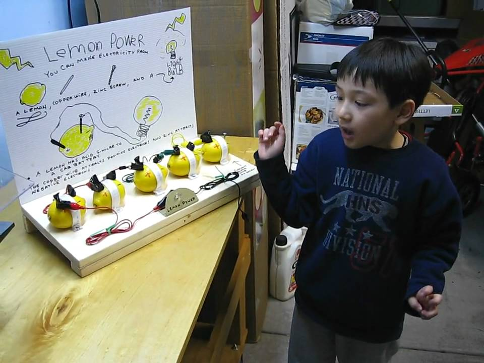 lemon battery science fair project Hank shows us another scishow: experiment this time he's tackling what may be the most cliche, well-known and misunderstood experiment of all time: the lemon battery.