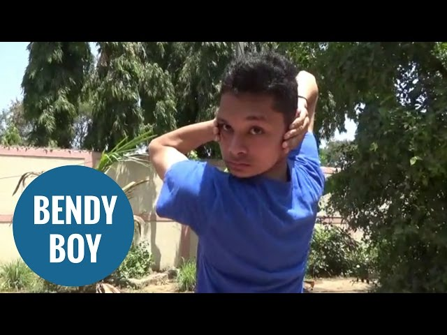 Boy vying for world record for most flexible man