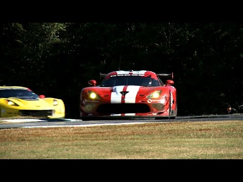 Viper SRT GTS-R racing in the Petit Le Mans at Road Atlanta.