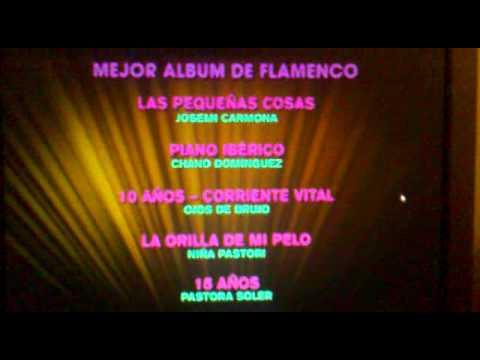 NIÑA PASTORI GANADORA GRAMMY LATINO 2011 MEJOR ALBUM FLAMENCO
