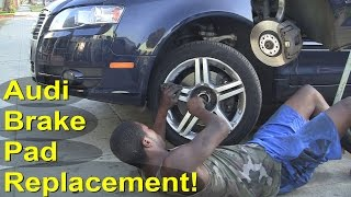 How to change Audi A4 Cabriolet Brake Pads 2007 Front & Rear Replacement