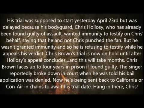 Oh no! Chris Brown to be locked up till June as his trial is delayed
