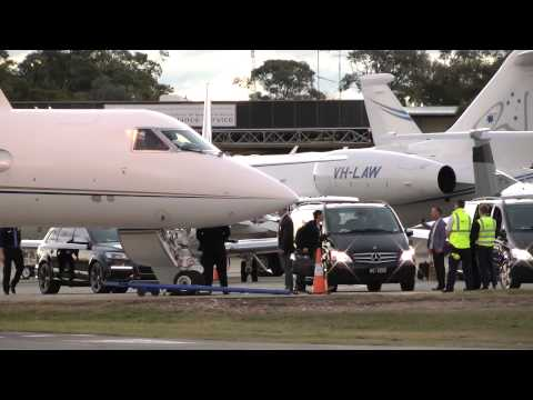 Lady Gaga's Private Jet - Sydney Airport