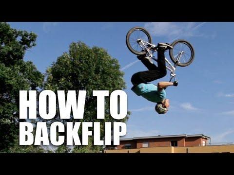 How to Backflip BMX (Как сделать бекфлип на БМХ) | Школа BMX Online #64