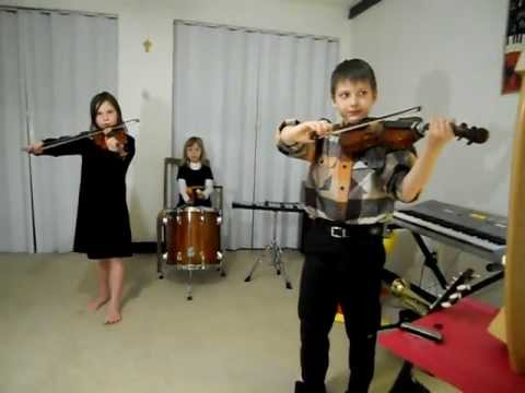 9 year old playing on 9 instruments - Children Medieval Band