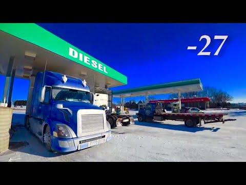 Дальнобой USA/Сильные морозы, мёрзнет топливо...
