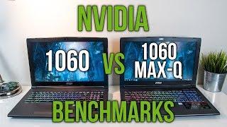 Nvidia 1060 Max-Q vs 1060 - Laptop Graphics Comparison Benchmarks