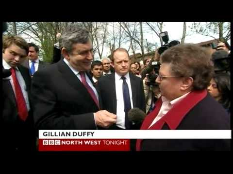Gordon Brown Bigot insult to Gillian Duffy (North West Tonight, 28.04.10)