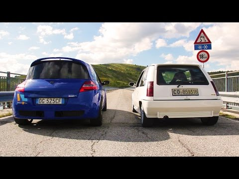 Renault 5 Gt Turbo vs Megane F1 Team - Davide Cironi drive experience