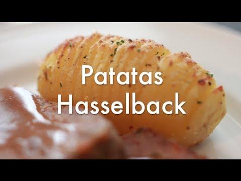 Patatas Hasselback ( al Horno ) - Recetas de cocina fáciles y económicas