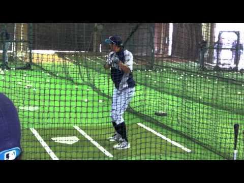 鈴木 一朗 Ichiro Suzuki batting cage イチロー