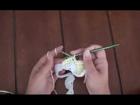 Mantita de Bebé en Punto Tunecino y Crochet (Parte 2)